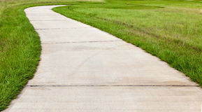 Curving trail path at the beautiful golf course Stock Photography