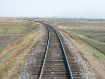 Curving train track Stock Photos