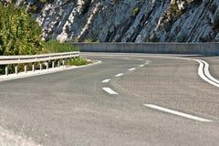 curvy δρόμος ασφάλτου Στοκ εικόνες με δικαίωμα ελεύθερης χρήσης