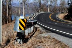 Curvy гора Алабамы дороги Стоковые Фото