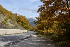 Curvy дорога в горах в Италии Стоковая Фотография RF