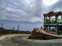 Curvy дорога горы стоковое изображение