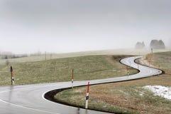 Curvy дорога Стоковые Изображения RF