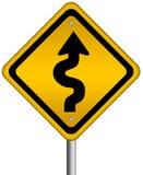 curvy дорожный знак иллюстрация вектора
