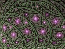 Curvy детальная картина с спиралями Стоковая Фотография RF
