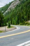 Curvy дорога горы Стоковое Изображение RF