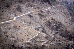 Curvy дороги в высоких горах атласа Стоковое Фото