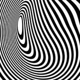 Curvy скачками динамические линии абстрактная геометрическая картина Стоковые Изображения RF