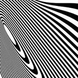 Curvy скачками динамические линии абстрактная геометрическая картина Стоковые Фото