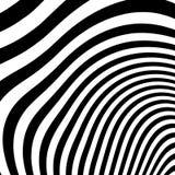 Curvy скачками динамические линии абстрактная геометрическая картина Стоковая Фотография