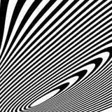 Curvy скачками динамические линии абстрактная геометрическая картина Стоковая Фотография RF