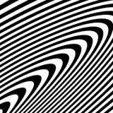 Curvy скачками динамические линии абстрактная геометрическая картина Стоковое фото RF