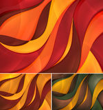 Curvy abstract background. A set of curvy abstract background. Each background separately on different layers. Suitable for your web background, design element Stock Images