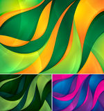 Curvy abstract background. A set of curvy abstract background. Each background separately on different layers. Suitable for your web background, design element Stock Photos