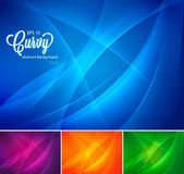 Curvy abstract background vol 2. Curvy abstract background collection. available in 4 colors, suitable for your design  element or background Royalty Free Stock Photo