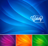 Curvy abstract background vol 2. Curvy abstract background collection. available in 4 colors, suitable for your design  element or background Stock Photo