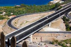 Curvy autostrady wyjście obraz royalty free