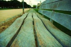 Curvy bench stock photo