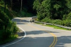 curvy bergvägspolning Royaltyfria Bilder