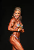 Curvy Blonde Bodybuilder Royalty Free Stock Images