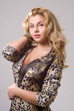 Curvy blonde girl Royalty Free Stock Images