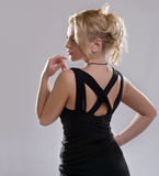 Curvy blonde girl Royalty Free Stock Image