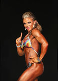 Curvy blonder Bodybuilder stockfoto