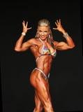 Curvy blonder Bodybuilder Lizenzfreies Stockbild