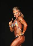 Curvy blondynki Bodybuilder Zdjęcie Stock