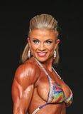 Curvy blondynki Bodybuilder Obrazy Royalty Free