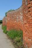 Curvy brick wall Royalty Free Stock Image
