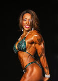 Curvy, Buff Bodybuilding Babe with Tattoos Royalty Free Stock Photos