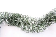 Curvy Christmas Garland Stock Images