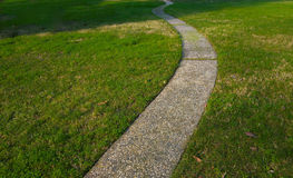 Curvy concrete path Stock Image