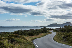 Curvy country road along the coast. Royalty Free Stock Photography