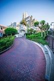 Curvy die lombard straat San Francisco winden stock fotografie