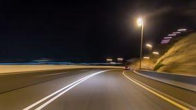 Curvy droga przez Jebel Hafeet timelapse drogowego hyperlapse, Al Ain, Zjednoczone Emiraty Arabskie zbiory