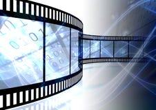 curvy filmstrip vektor illustrationer