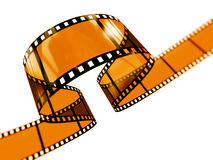 Curvy filmstrip. Rendered fimstrip with realistic aspect ratio, isolated on white Stock Photography