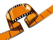 curvy filmstrip Arkivbild