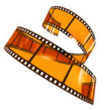 Curvy filmstrip. Rendered fimstrip with realistic aspect ratio, isolated on white Stock Photo
