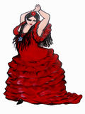 Curvy Flamenco Dancer Royalty Free Stock Photo
