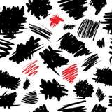 Curvy grunge seamless pattern Royalty Free Stock Images
