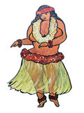 Curvy Hawaiian Girl Royalty Free Stock Images