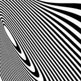 Curvy irregular dynamic lines. Abstract geometric pattern. Royalty free vector illustration Stock Photos