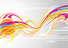 Curvy lines background. A background with colorful curvy lines Stock Illustration