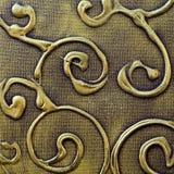curvy metalliskt för abstrakt bakgrund Royaltyfri Foto