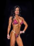 Curvy Middle-Aged Bikini Competitor Royalty Free Stock Photos