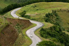 Curvy mountain road Stock Photography