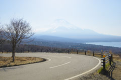 Curvy mountain road. In japan royalty free stock photo